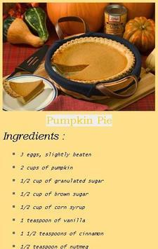 Free Pumpkin Pie Recipes apk screenshot