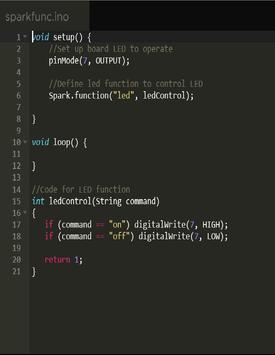 Spark Core Controller apk screenshot