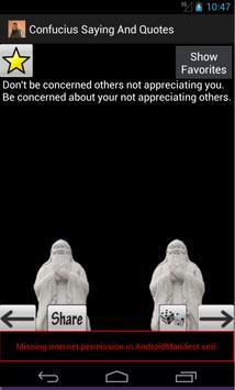 Confucius Saying And Quotes apk screenshot