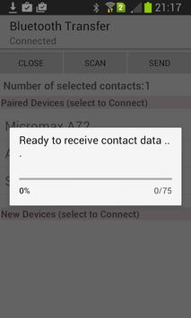 Contacts Xchange Bluetooth apk screenshot