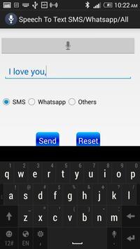 Speech To Text for SMS/Whatsap apk screenshot