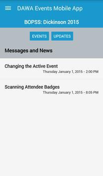 DAWA Events Mobile App apk screenshot