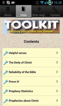Evangelism Toolkit apk screenshot