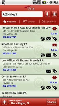Data Publishing Yellow Pages apk screenshot