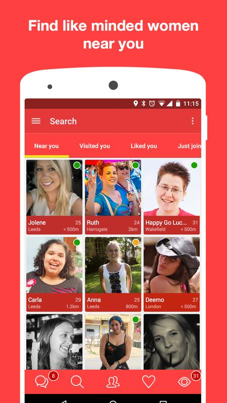 only women lesbian dating apk download   free social app for android