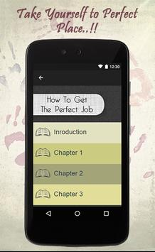 How To Get The Perfect Job apk screenshot