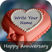 Anniversary Cake with Name icon