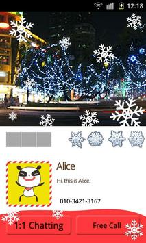 Kakao Talk Theme]Pandi's X-mas apk screenshot
