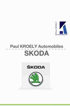 Skoda Paul KROELY Automobiles poster