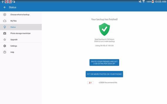 100 GB Free Cloud Drive Degoo apk screenshot