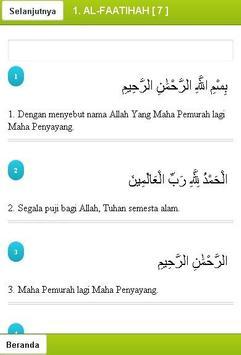 Terjemah Alquran Indonesia apk screenshot