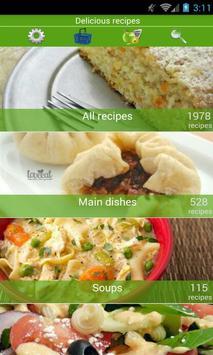 Delicious recipes poster