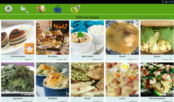 Delicious recipes apk screenshot