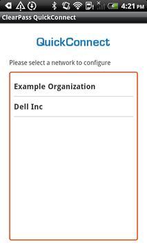 Dell ClearPass QuickConnect apk screenshot