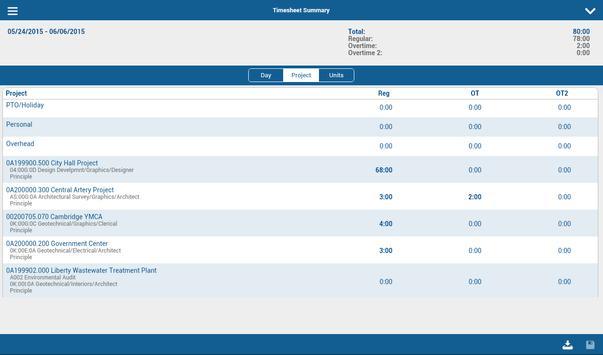 Deltek Touch T & E for Vision apk screenshot