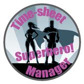 Superhero! Time-sheet Manager icon