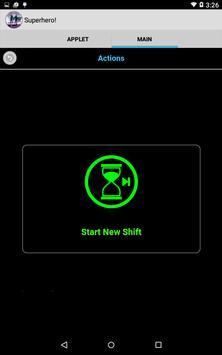Superhero! Time-sheet Manager apk screenshot