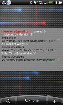 Gmail Inbox Widget apk screenshot