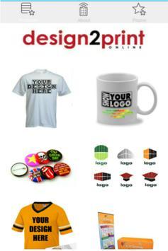 Design2Print : Tshirt & Logo poster