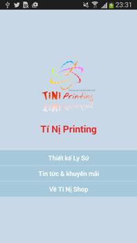 Ti Ni Printing poster