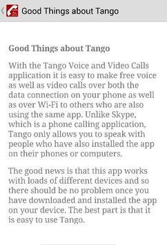Guide Free Tango Video Calls apk screenshot