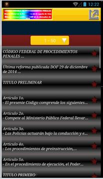 CÓDIGO: PROCEDIMIENTOS PENALES apk screenshot