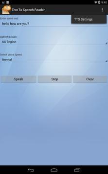 Text To Speech apk screenshot