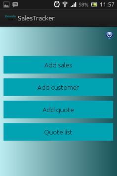 Sales Tracker apk screenshot