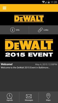 DEWALT 2015 Event poster