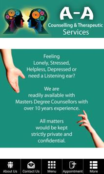 AA Counselling Services poster