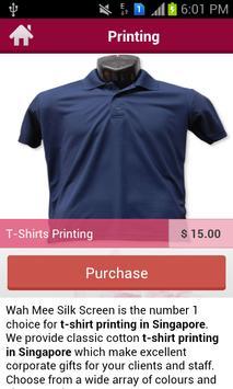 Wah Mee Silk Screen Printing apk screenshot