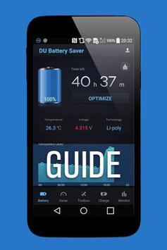 Guide for DU Battery Saver apk screenshot
