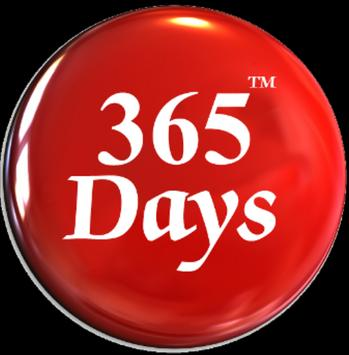 365 Days SMS poster