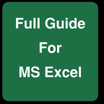 Full Guide for MS Excel poster
