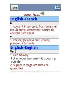 English French Dictionary Free apk screenshot