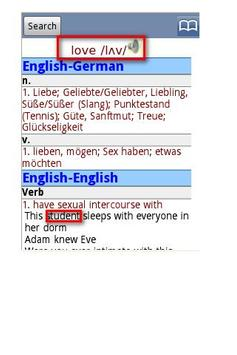 English German Dictionary Pro apk screenshot