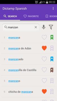 Dictamp Spanish dictionary apk screenshot