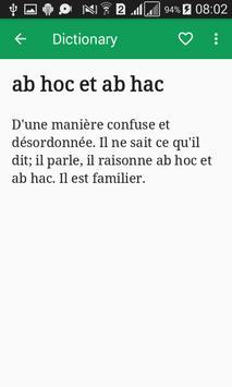 Dictionnaire Français apk screenshot