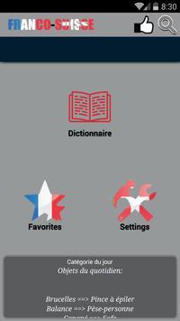 Dictionnaire Franco-Suisse poster