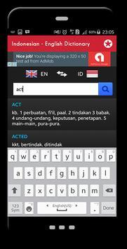 Indonesian English Dictionary apk screenshot