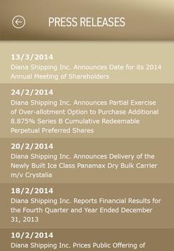 Diana Shipping Inc. app apk screenshot