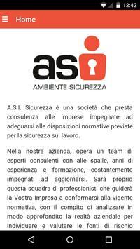 A.S.I. Sicurezza poster