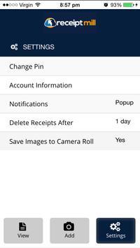 ReceiptMill apk screenshot
