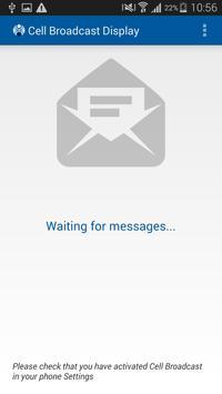 Cell Broadcast Display apk screenshot