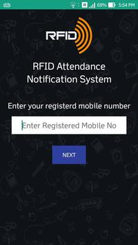 RFID Attendance Notification poster
