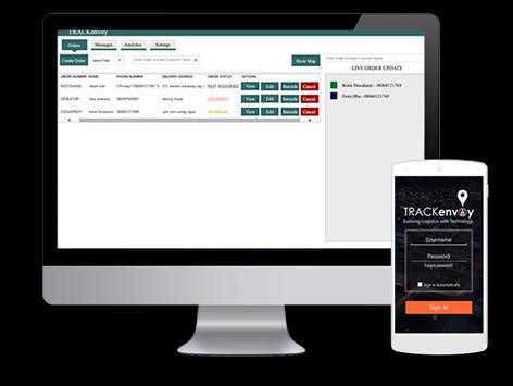 Trackenvoy apk screenshot