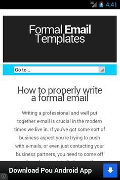 Formal Mail apk screenshot