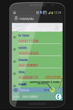 Hide My phone number apk screenshot