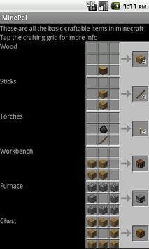 MinePal (Demo Version) apk screenshot