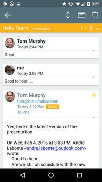 Mailcard : Exchange email app apk screenshot